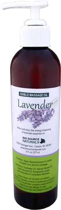 Edible Lavender Massage Oil 8 fl oz (227 ml)