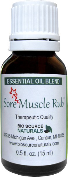 Sore Muscle Rub Essential Oil Blend - 4.0 fl oz (120 ml) SOREMUS4oz