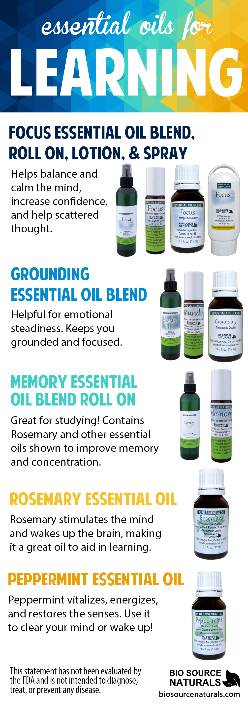Memory Essential Oil Blend - 2.0 fl oz (60 ml)