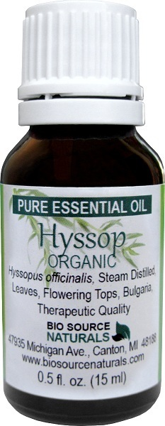 Hyssop Organic Pure Essential Oil with Analysis Report