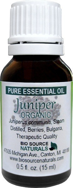 Juniper Berry, Organic Pure Essential Oil with Analysis Report 00198