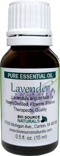 Lavender, French Pure Essential Oil - 0.5 fl oz (15 ml) with Analysis Report OILLAVB