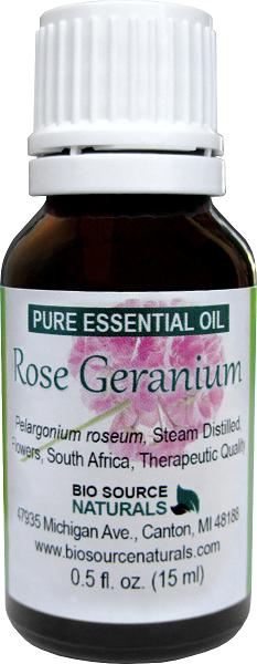 Rose Geranium Pure Essential Oil with Analysis Report