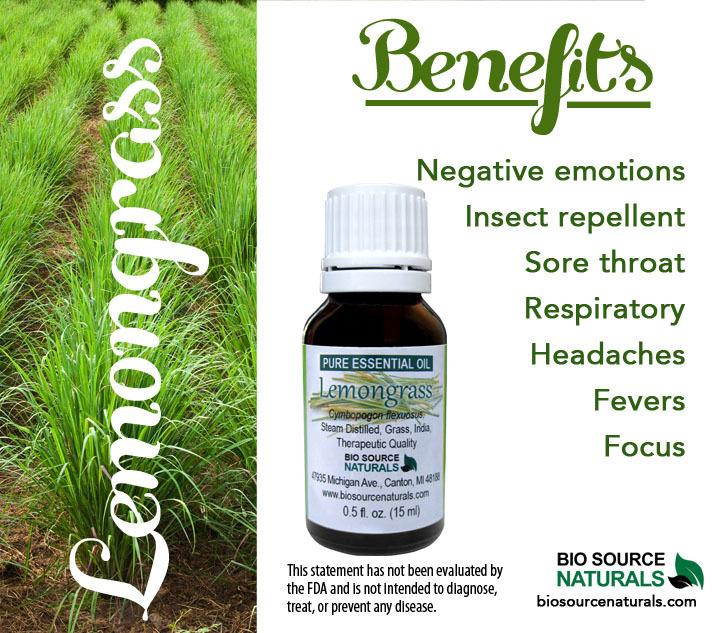 Lemongrass Pure Essential Oil - (India)