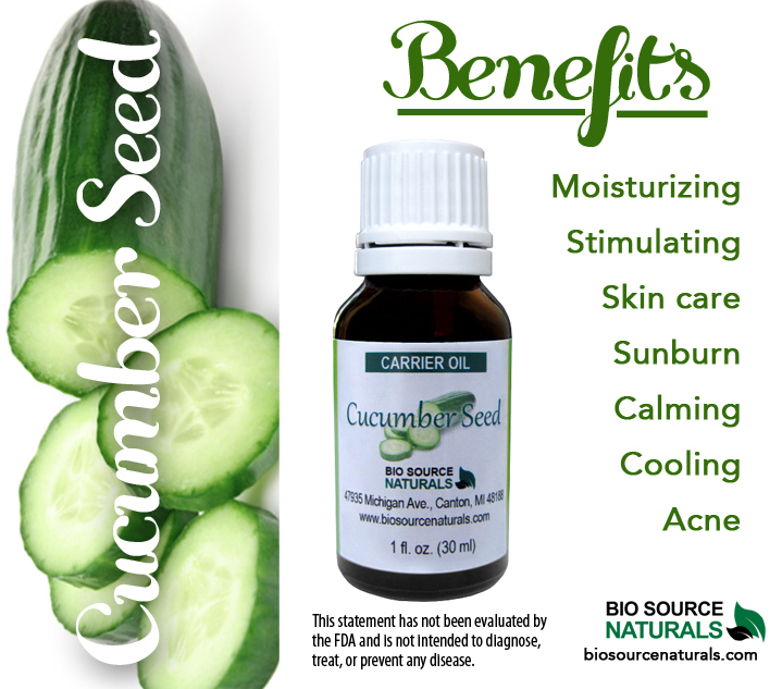 Cucumber Seed Oil (Cucumis sativus) Carrier Oil - 8 fl oz (240 ml)