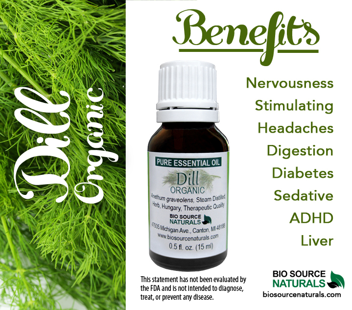 Dill Pure Essential Oil Organic - Hungary with GC Report