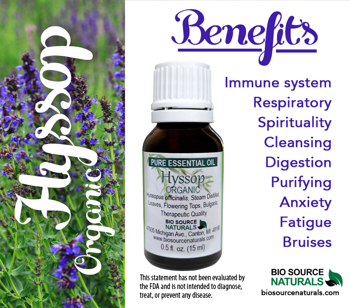 Hyssop Organic Pure Essential Oil​ with Analysis Report