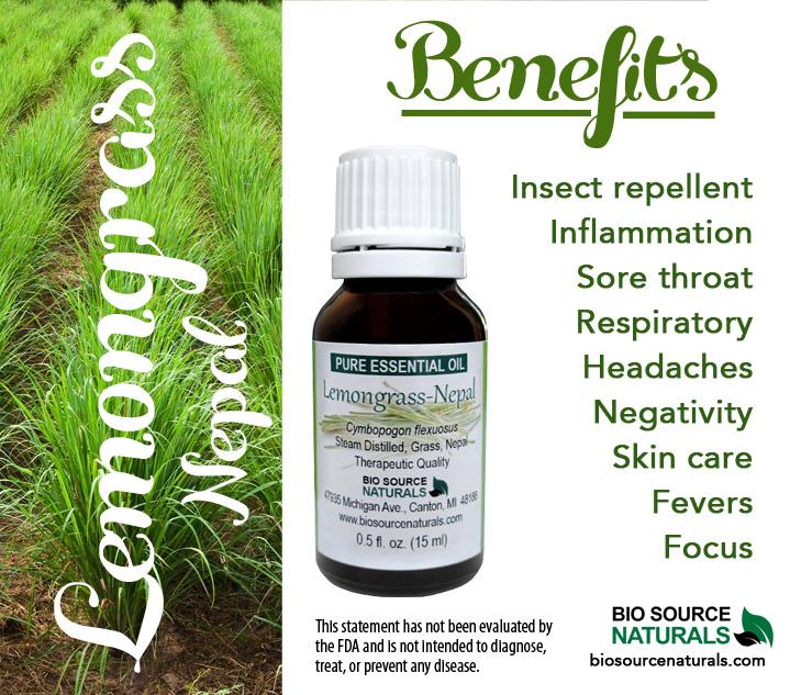 Lemongrass Pure Essential Oil -  (Nepal)