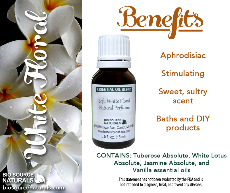 Soft, White Floral Essential Oil Blend Roll On - 0.3 fl oz (9 ml)
