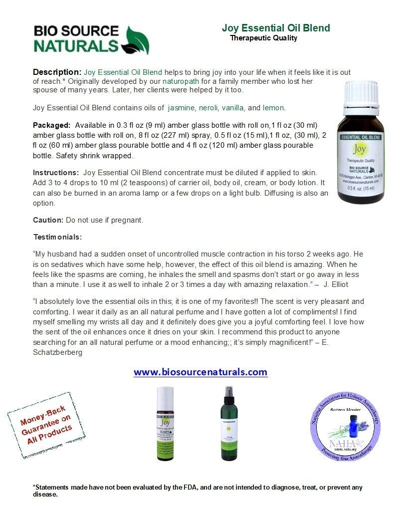 Joy Essential Oil Blend - 4.0 fl oz (120 ml)