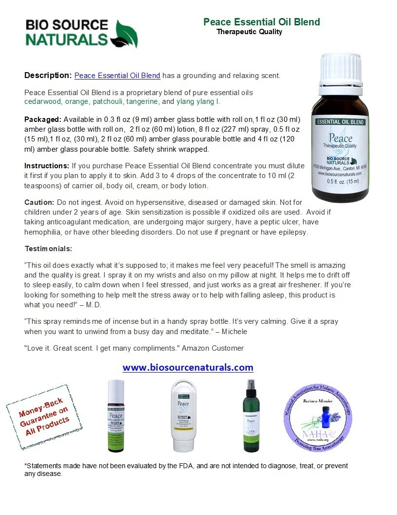 Peace Essential Oil Blend - 4.0 fl oz (120 ml)