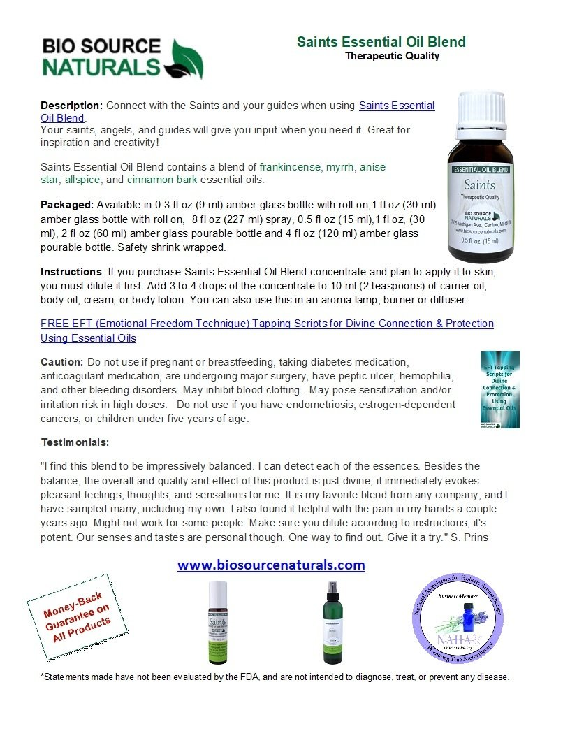 Saints Essential Oil Blend - 2.0 fl oz (60 ml)