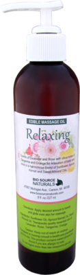 Edible Relaxing Massage Oil 8 fl oz (227 ml)