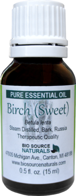 Birch (Sweet) Pure Essential Oil