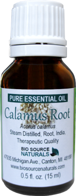 Calamus Root Pure Essential Oil - Sweet Flag - with Analysis Report
