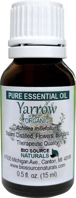 Yarrow, Organic Pure Essential Oil - Bulgarian - with Analysis Report