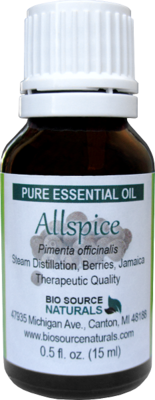 Allspice Pure Essential Oil with Analysis Report
