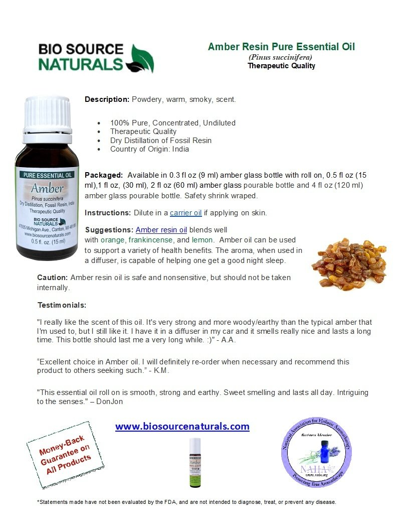 Amber Resin Oil