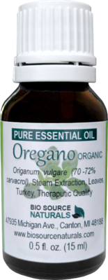 Oregano Pure Essential Oil -  Organic - Turkey with GC Report