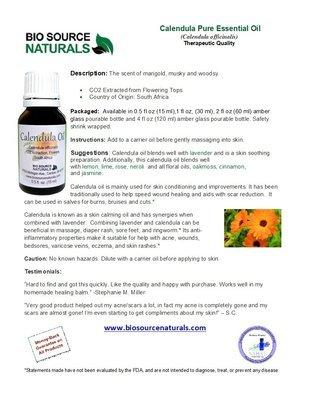 Calendula Oil Product Bulletin