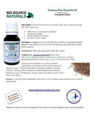 Caraway Pure Essential Oil Product Bulletin