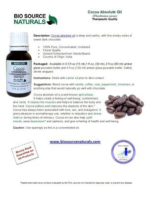 Cocoa Absolute Oil Product Bulletin