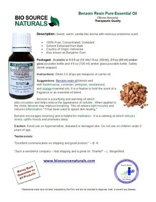 Benzoin Resin Oil Product Bulletin