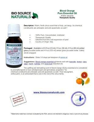 Blood Orange Pure Essential Oil Product Bulletin