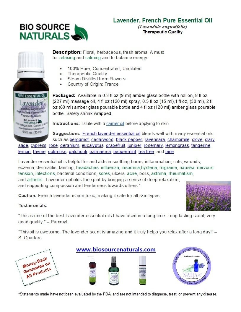 Lavender, French Pure Essential Oil with Analysis Report