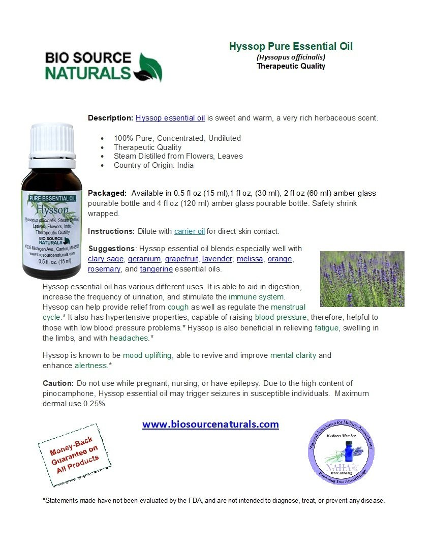 Hyssop  Pure Essential Oil