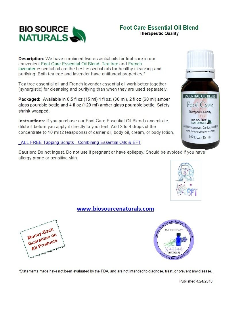 Foot Care Essential Oil Blend Product Bulletin