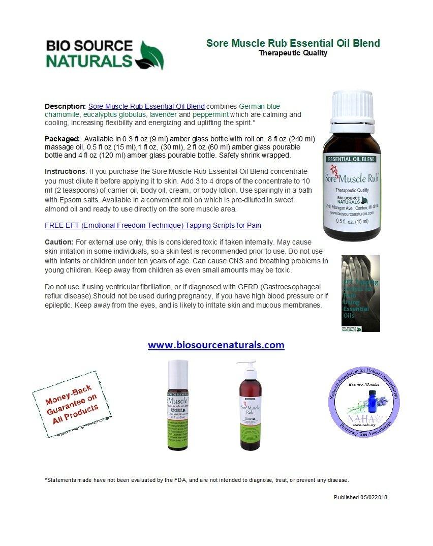 Sore Muscle Rub Massage Oil 8 fl oz (227 ml)