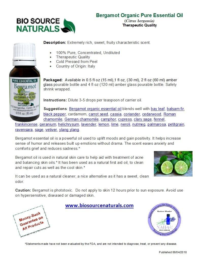 Bergamot Organic Pure Essential Oil
