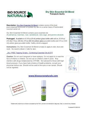 Dry Skin Essential Oil Blend Product Bulletin