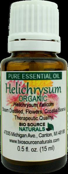 Helichrysum, Organic (Helichrysum italicum) Pure Essential Oil with GC Report 00186
