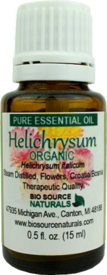 Helichrysum, Organic (Helichrysum italicum) Pure Essential Oil with Analysis Report