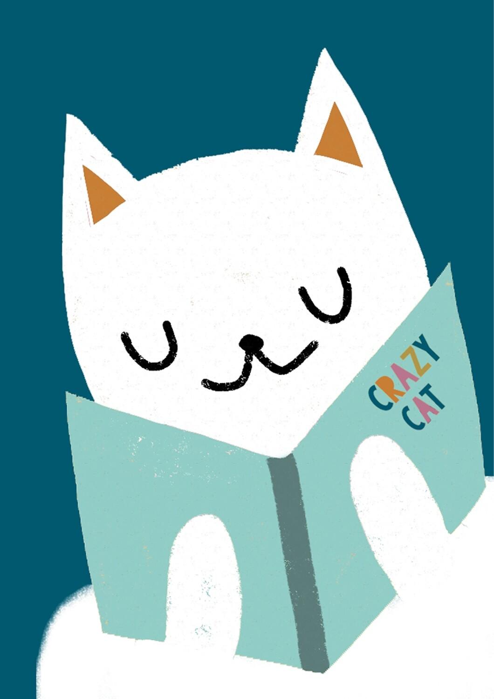 Crazy Cat - stampa A4