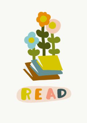 Leggendo fiorisci - stampa A4