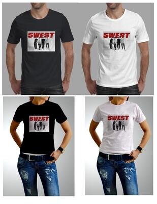 5WEST Black T-shirt