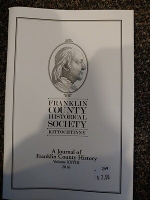 Franklin County Historical Society Journal 2016