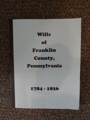 Wills of Franklin County 1784-1826 Book