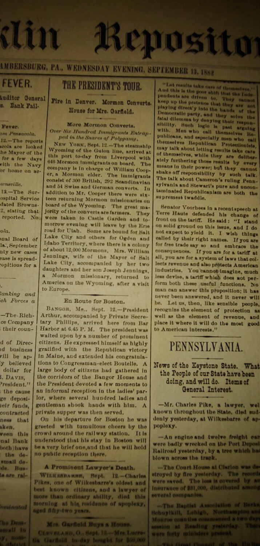 Franklin Repository 1882