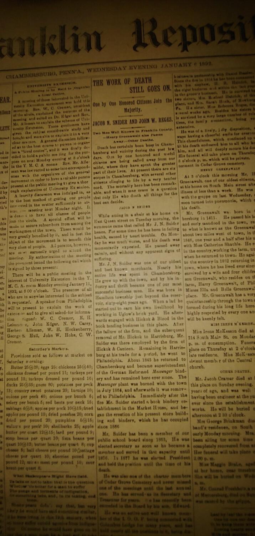Franklin Repository 1892