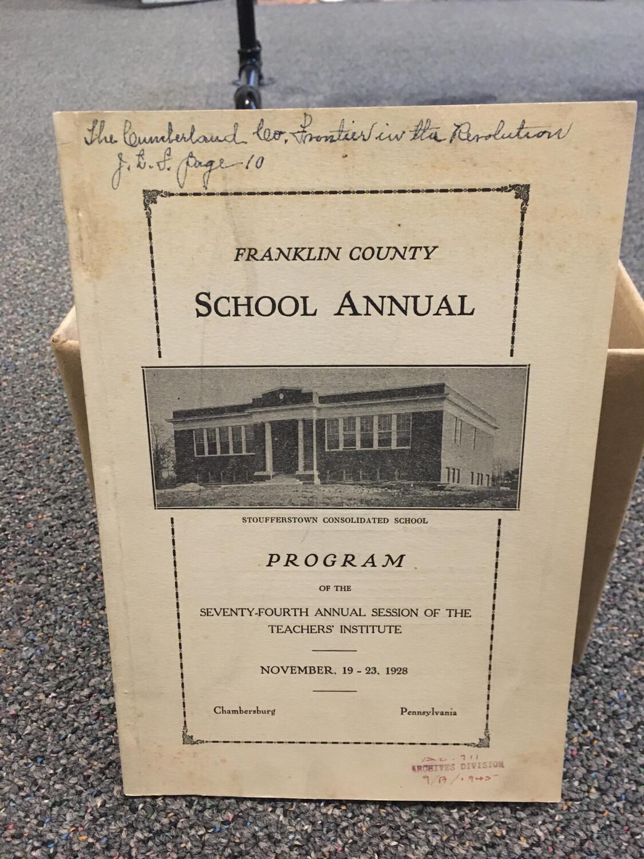 Franklin County School Annual 1928