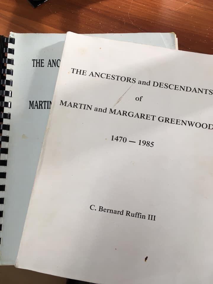 The Ancestors and Descendants of Martin and Margaret Greenwood