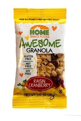 Awesome Granola - Raisin Cranberry - 12 1.25packs/carton