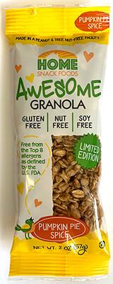 Awesome Granola - Pumpkin Pie Spice - LIMITED EDITION - 10-2oz packs/carton