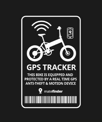 Transparent white GPS Tracker sticker