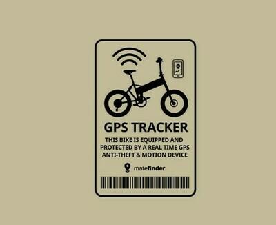Transparent black GPS Tracker sticker
