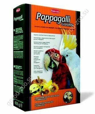 Падован д/круп.попугаев основной 600г грандмикс паппагали